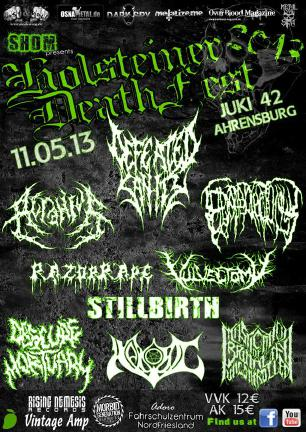 Holsteiner Death Fest Flyer 2013