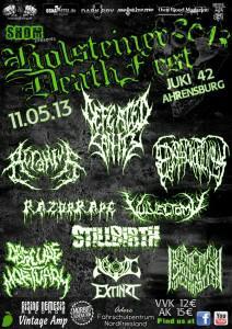 Hoslteiner Death Fest Flyer 2013