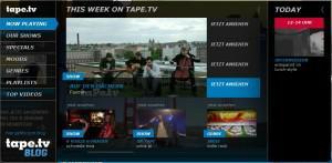 Tape.tv Musikfernsehn im Internet vorgestellt