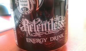Relentless Energy Drink Schriftzug